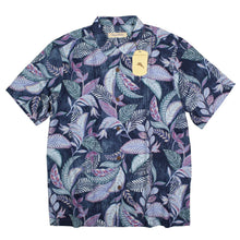 Tommy Bahama Mai Tai Jungle Camp Shirt, Silk Blend, Blue Opal, (Size XXL) NWT $135