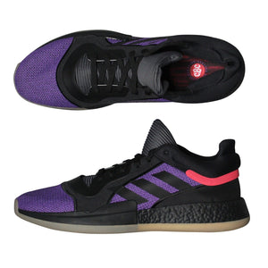G28775 Adidas Marquee Boost Low Shoes Basketball, Purple Black, Sz 18 NWOT $120