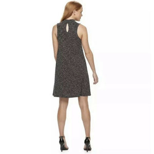 ALMOST FAMOUS Juniors Mock Sleeveless Knit Shift Dress, Large NEW $48