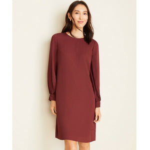Ann Taylor Petite Lantern Sleeve Shift Dress (14P)