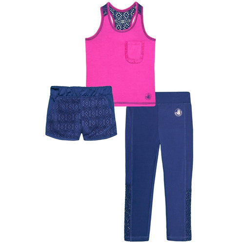 Body Glove Girl's Tank Top, Shorts and Leggings Set - 3-Piece (2T) NEW