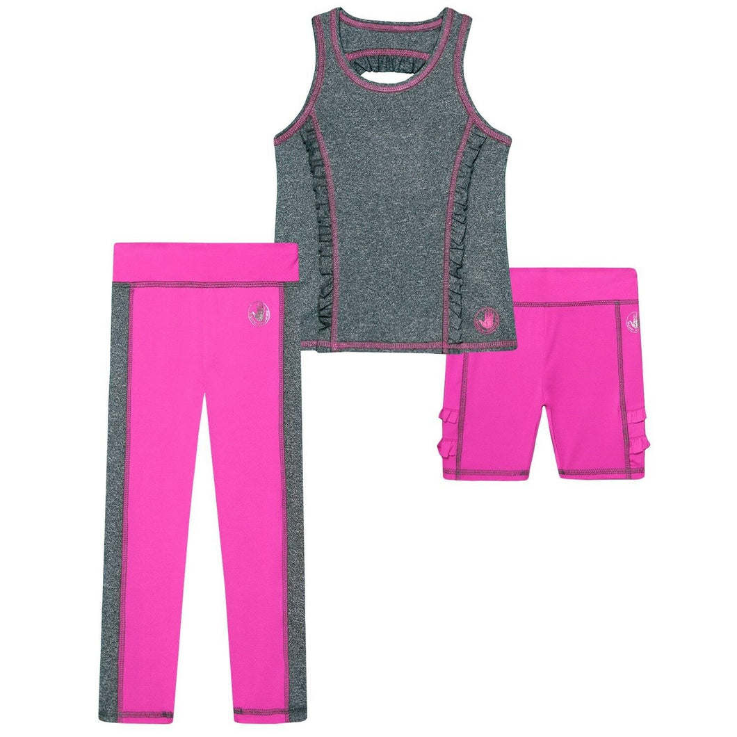 Body Glove Tank Top, Shorts and Leggings 3-Piece Set (2T) NEW