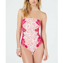 Lauren Ralph Lauren Printed Bandeau One-Piece Swimsuit (12, 14) NEW $132