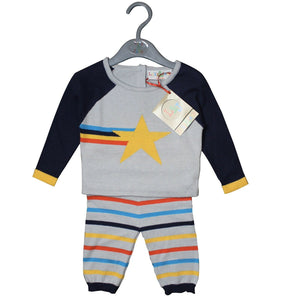 "Lily & Jack ""Star"" Baby Boys Knitted Set,  (0-3 MO) NEW"