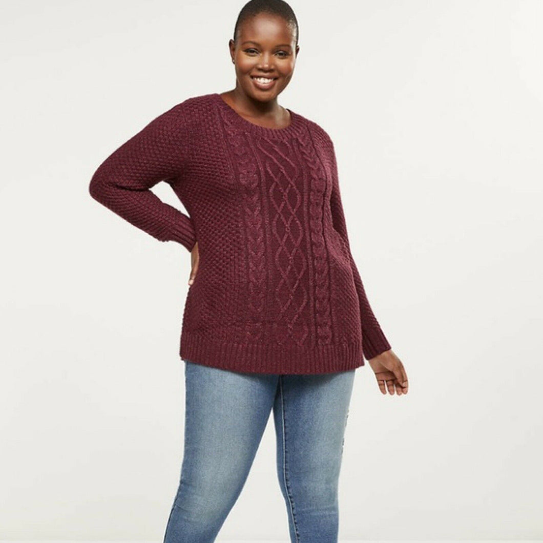 Lane Bryant Cable Knit Shimmer Tunic Sweater (14/16, 18/20)