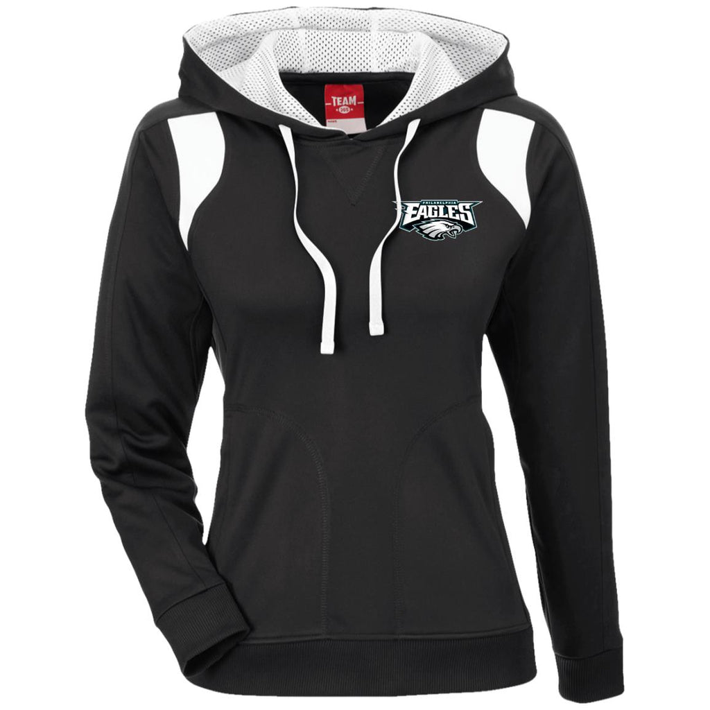 Ladies' Colorblock Poly Hoodie