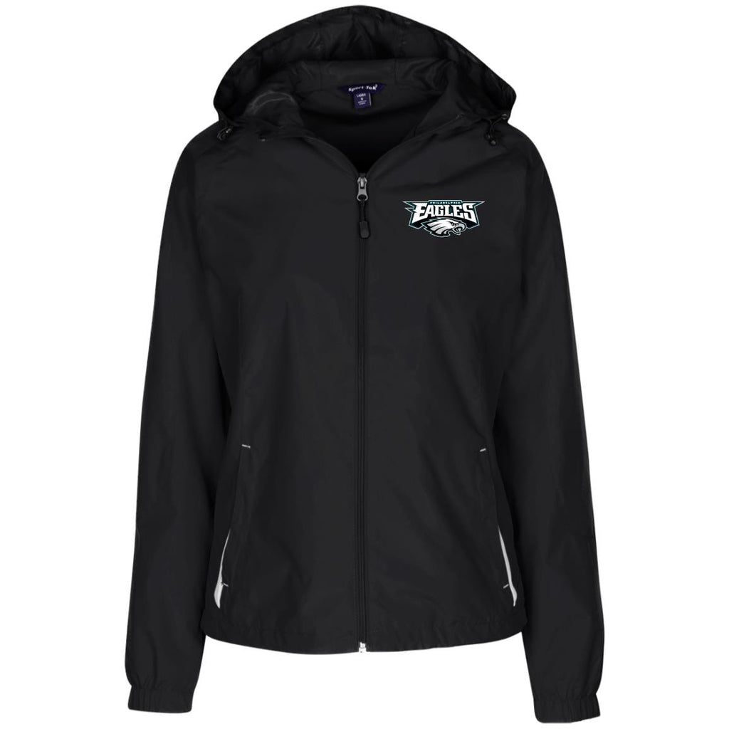 Ladies' Jersey-Lined Hooded Windbreaker
