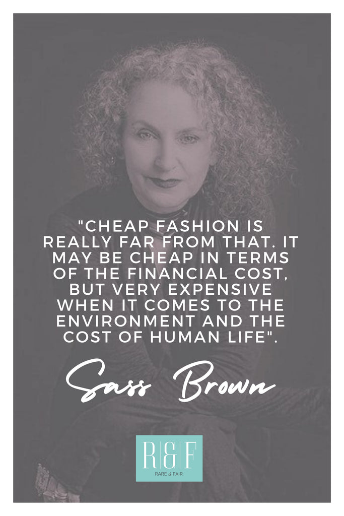 Sass Brown | The Inspirational Women Behind The Slow Fashion Quotes | Rare & Fair