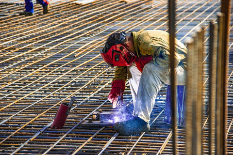 Man welding using the correct amount supplies. Saves time and money!