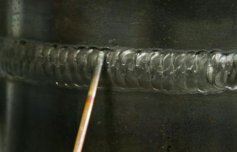 Undercutting can leave visible cracks and weak weld joints.