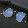 Retro Metal Frame Blue Light Blocking Glasses Filter for Computer Gaming Glasses for Woman