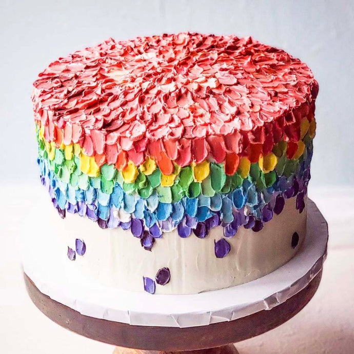 Rainbow Pallette Buttercream Cake by Sugardust & Sprinkles