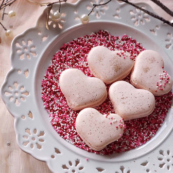 Heart Macarons Supplies & Tutorial by Sugardust & Sprinkles