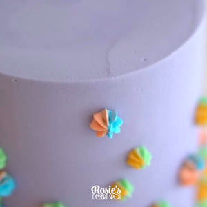 Piped Rainbow Stars Mini Cake by Rosie's Dessert Spot
