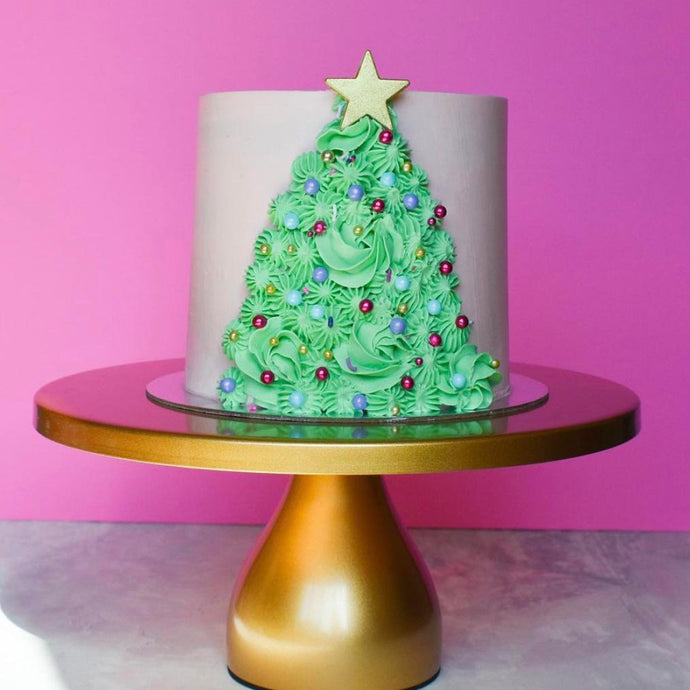 Buttercream Christmas Tree Cake Supplies and Tutorial by Chahrazad's Cuisine