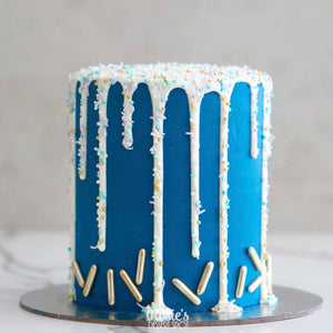 Wintry Blue Icicle Drip Cake by Rosie's Dessert Spot