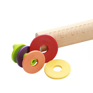 Rolling Pin with Rubber Bands + Handles