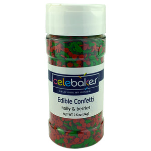 Holly & Berries Sprinkles (2.6 oz)