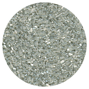 Silver Pearlized Sugar Crystal