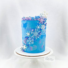 Snowflake Cascade Cake Supplies & Instructions by Custom Cakes and Cupcakes by Erin