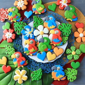 Parrot Cookies Supplies & Tutorial by LilaLoa
