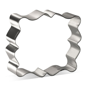 Fancy Rectangle Plaque Cookie Cutter 4