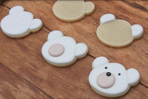 Polar Bear and Heart Cookies Supplies and Tutorial by The Painted Pastry