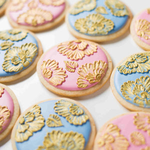 Brush Embroidery Cookie Decorating LIVE Online Class with SweetAmbs (Friday May 29th at 12pm PST/3pm EST)