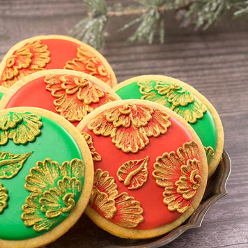 Christmas Brush Embroidery Cookie Kit by SweetAmbs