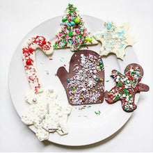 Christmas White Chocolate Bark Supplies and Tutorial by Find Your Cake Inspiration