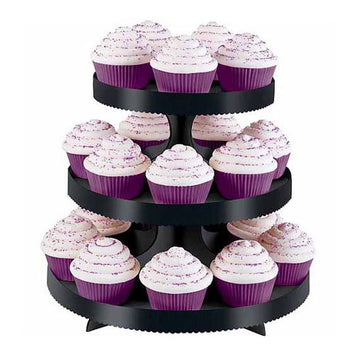 3-Tier Treat Black Stand (Wilton)