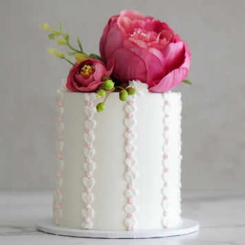Vertical Love Heart Piped Cake Design LIVE with Rosie's Dessert Spot (Coming Back Soon)