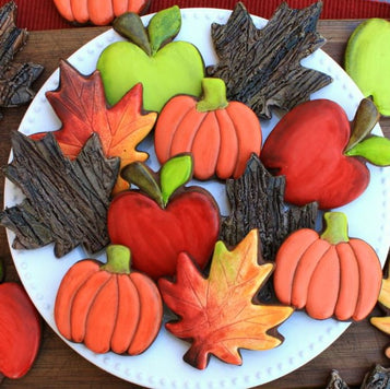 Fall Chocolate Cookies Kit by LilaLoa (24 cookies)