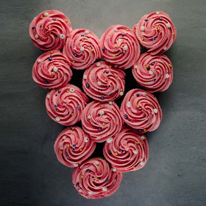 Valentine's Day Heart Cupcake Wreath Supplies & Tutorial by Global Belly