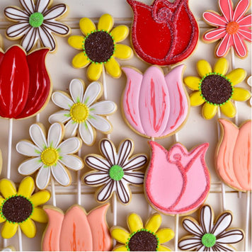 In Full Bloom Cookie Pops by Haniela's (makes 24)