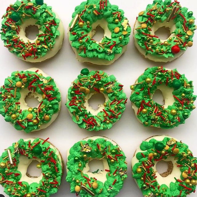 Sparkling Wreath Cake Donuts Supplies and Tutorial by Karlee's Kupcakes