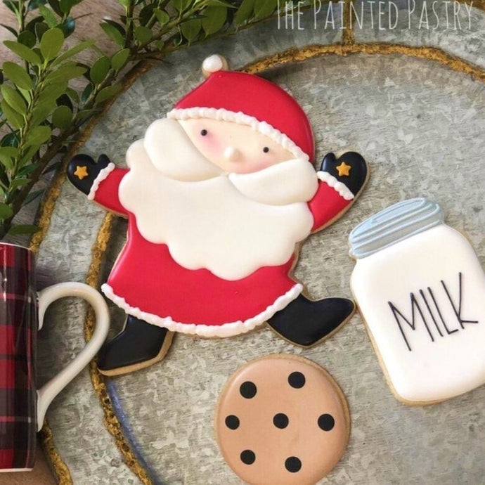Santa Milk and Cookies Supplies by The Painted Pastry