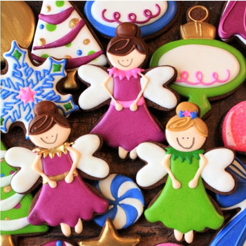 Sugarplum Fairies Cookies Supplies and Tutorial by LilaLoa