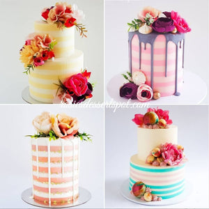 Striped Watercolour Buttercream Cake Tutorial by Rosie's Dessert Spot