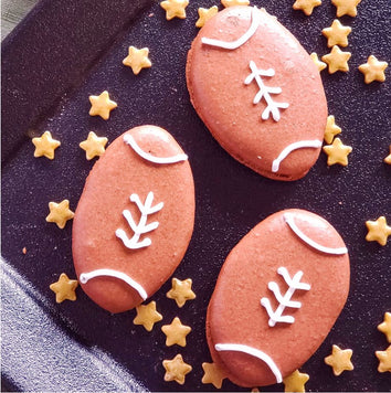 Super Bowl Football Macarons Supplies and Tutorial by Sugardust & Sprinkles