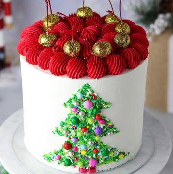 Christmas Tree Cake Supplies and Tutorial by Sheri Wilson