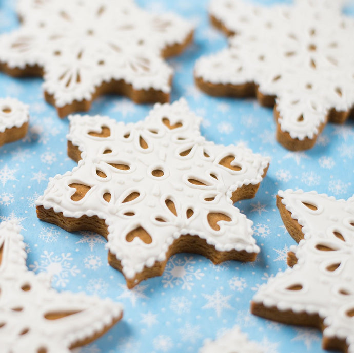 Gingerbread Snowflake Cookies Supplies and Tutorial by Sweetambs