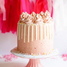 Pretty Pink Drip Cake Supplies & Tutorial by Find Your Cake Inspiration