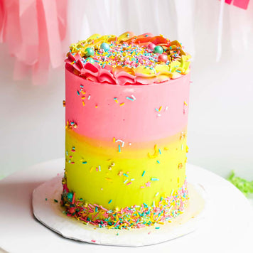 Two-Tone Celebration Cake Supplies & Tutorial by Find Your Cake Inspiration