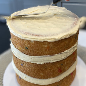 Stacking and Crumb Basics plus Smooth Sides and Sharp Edges Supplies & Tutorial by Buttercream Lane Cakes