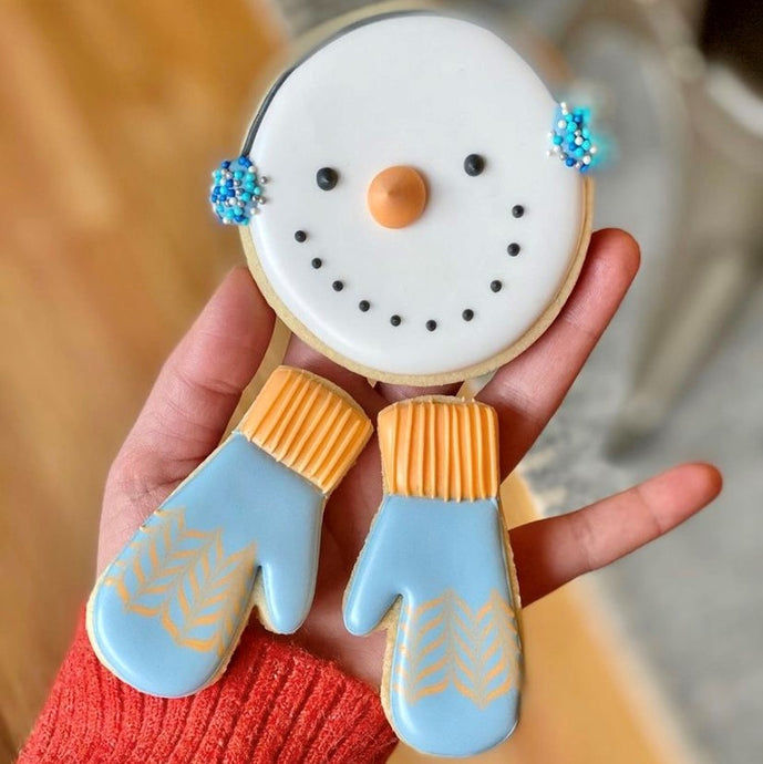 Snowman and Mitten Cookie Supplies by The Painted Pastry