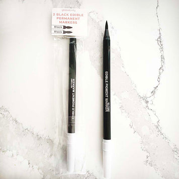 Edible Black Markers (set of 2)