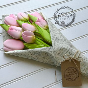 Tulip Bouquet Cookies Supplies by The Floured Canvas