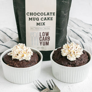 Keto and Gluten free Chocolate Mug Cake Mix by Low Carb Yum