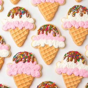 Ice Cream Cookie Kit by SweetAmbs (24 cookies)